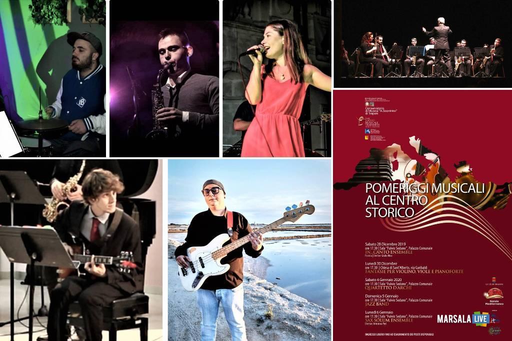 centro storico di Trapani, quarto concerto. Jazz Band