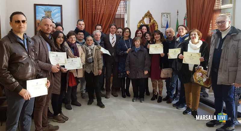 premiazione presepe più bello_foto di gruppo dei partecipanti 09.01.2019