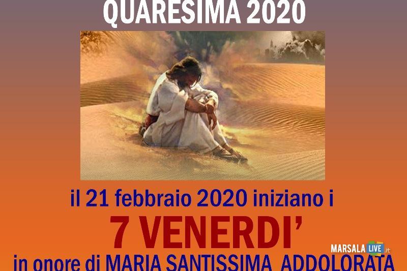 7 venerdì del mese 2020 Quaresima copia