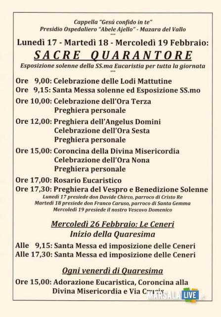 Cappella Ospedale Mazara, lunedì, martedì e mercoledì le quarantore (3)