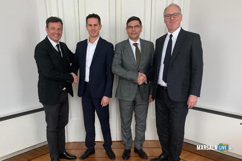 Il dg Michele Bufo, il ceo Alex Spinato, lad Salvatore Ombra e il presidente Joseph Gostner