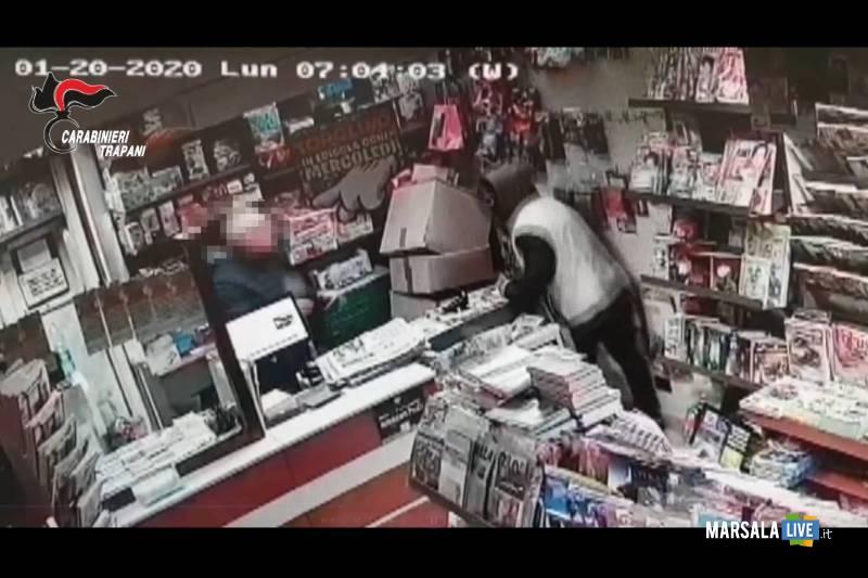 tentata rapina edicola trapani