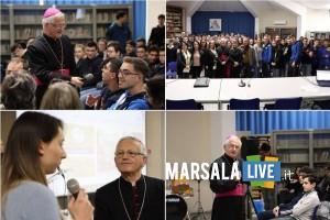vescovo in visita pastorale Istituti secondari Trapani