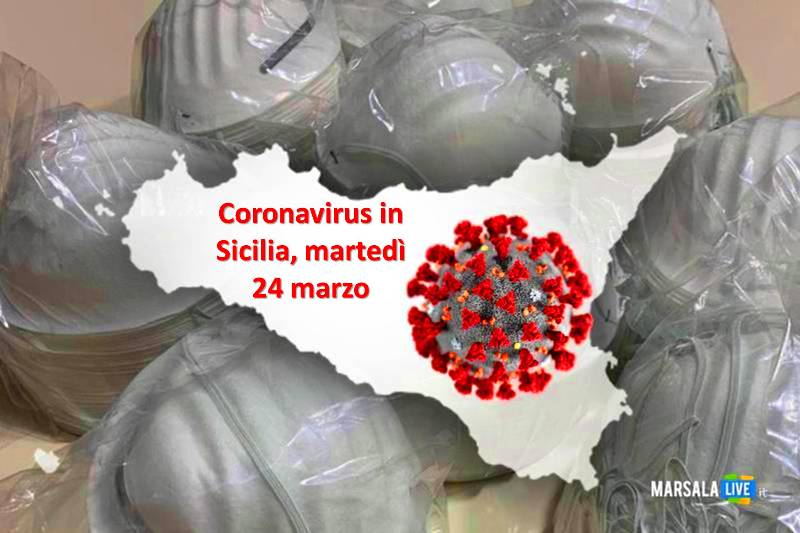 Coronavirus in Sicilia, martedì 24 marzo