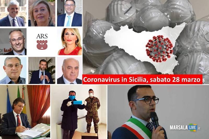 Coronavirus in Sicilia, sabato 28 marzo
