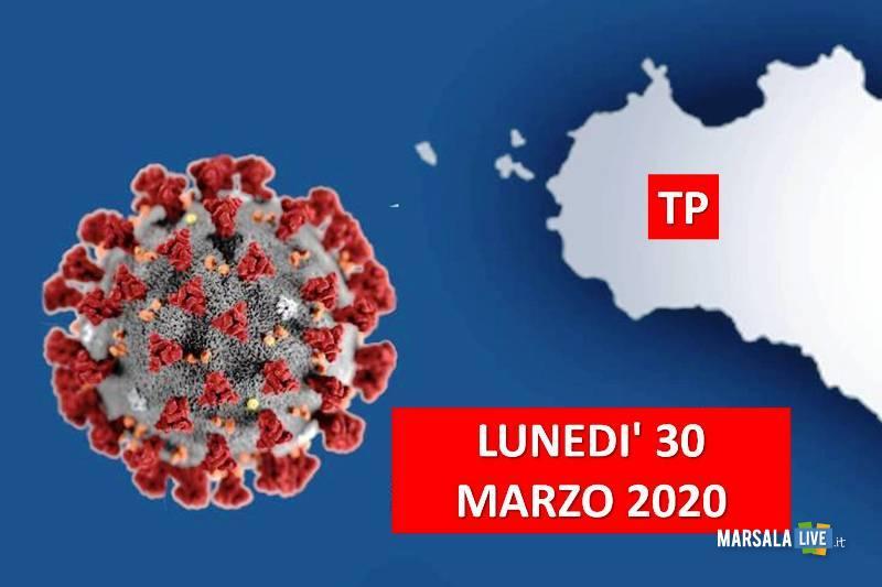 coronavirus lunedì 30 marzo, provincia trapani