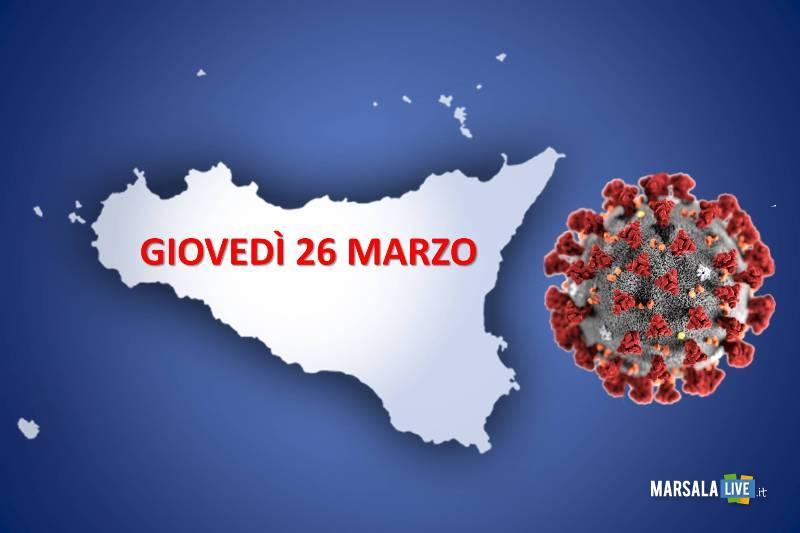 coronavirus sicilia 26 marzo 2020
