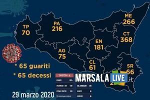 coronavirus sicilia domenica 29 marzo 2020