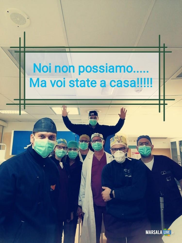 infermieri dell'ospedale Paolo Borsellino di Marsala