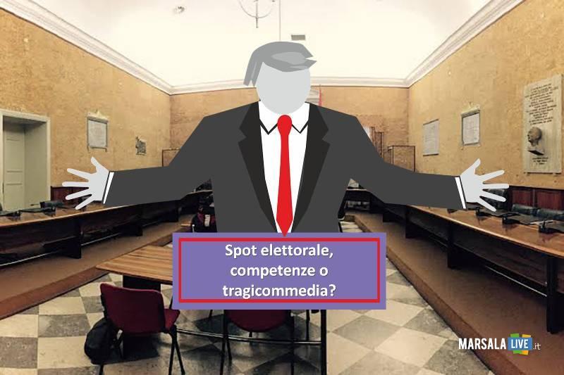 spot elettorale, competenze o tragicommedia, consiglio marsala