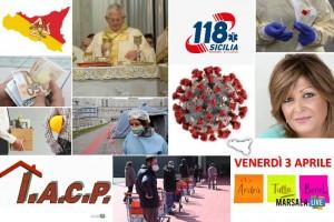 Comunicati, opinioni, proposte, politica, coronavirus. sicilia, venerdì 3 aprile 2020