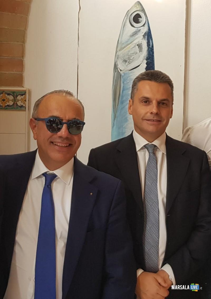 Il Presidente del Distretto della Pesca, Nino Carlino, e l'Assessore Regionale per la Pesca e l'Agricoltura, Edy Battaglia