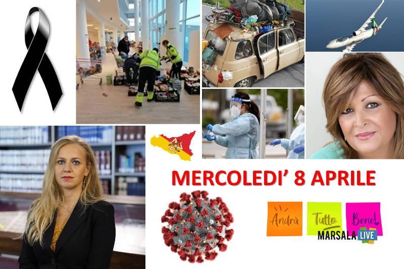 MERCOLEDI' 8 APRILE sicilia, coronavirus