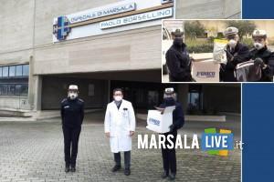 Polizia Municipale Marsala, visiere e tute Ospedale Paolo Borsellino
