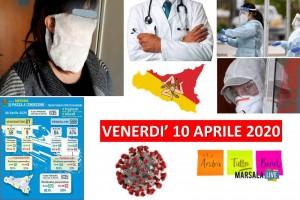 VENERDI' 10 APRILE 2020 sicilia, coronavirus