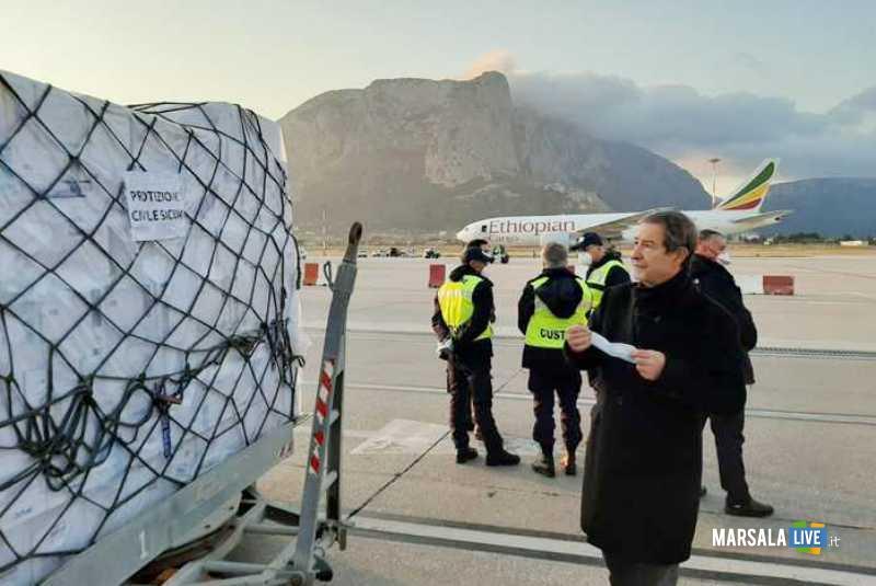 aereo in sicilia da Cina, coronavirus
