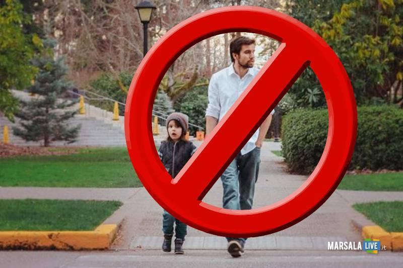 passeggiate coi bambini - divieto