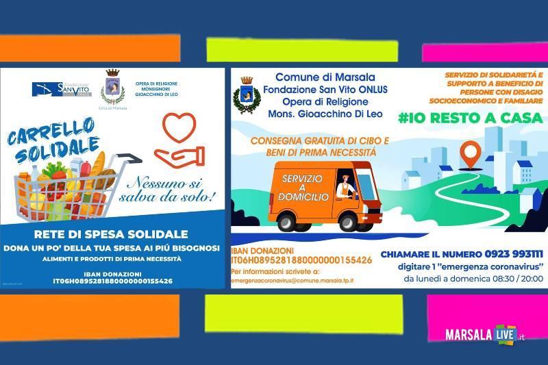 solidarietà, marsala, coronavirus