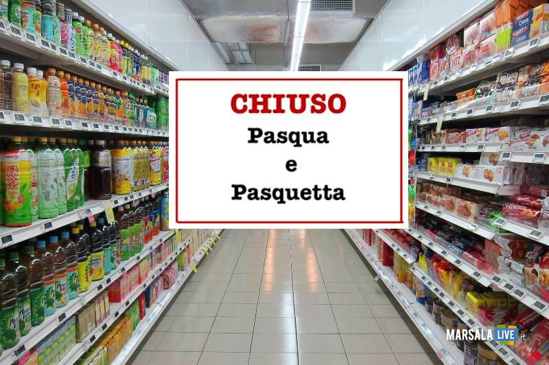 supermercato chiuso pasqua e pasquetta, sicilia