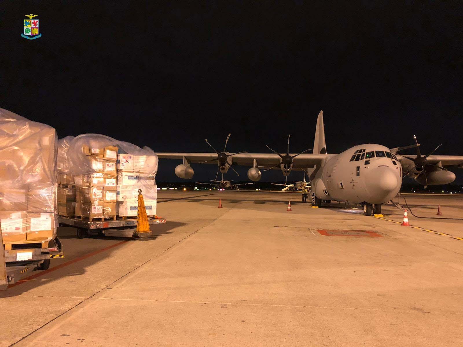 tonnellate materiale sanitario trasportato da velivoli Aeronautica Militare (1)