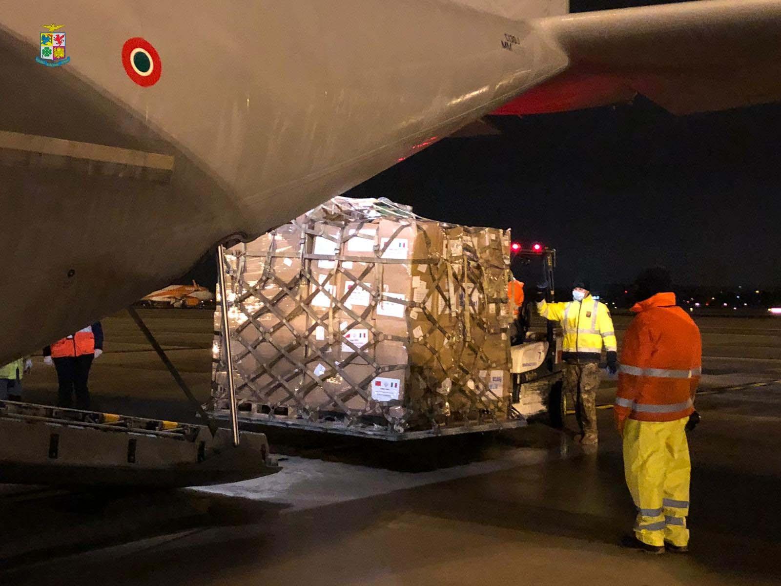 tonnellate materiale sanitario trasportato da velivoli Aeronautica Militare (3)