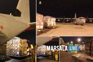 tonnellate materiale sanitario trasportato da velivoli Aeronautica Militare