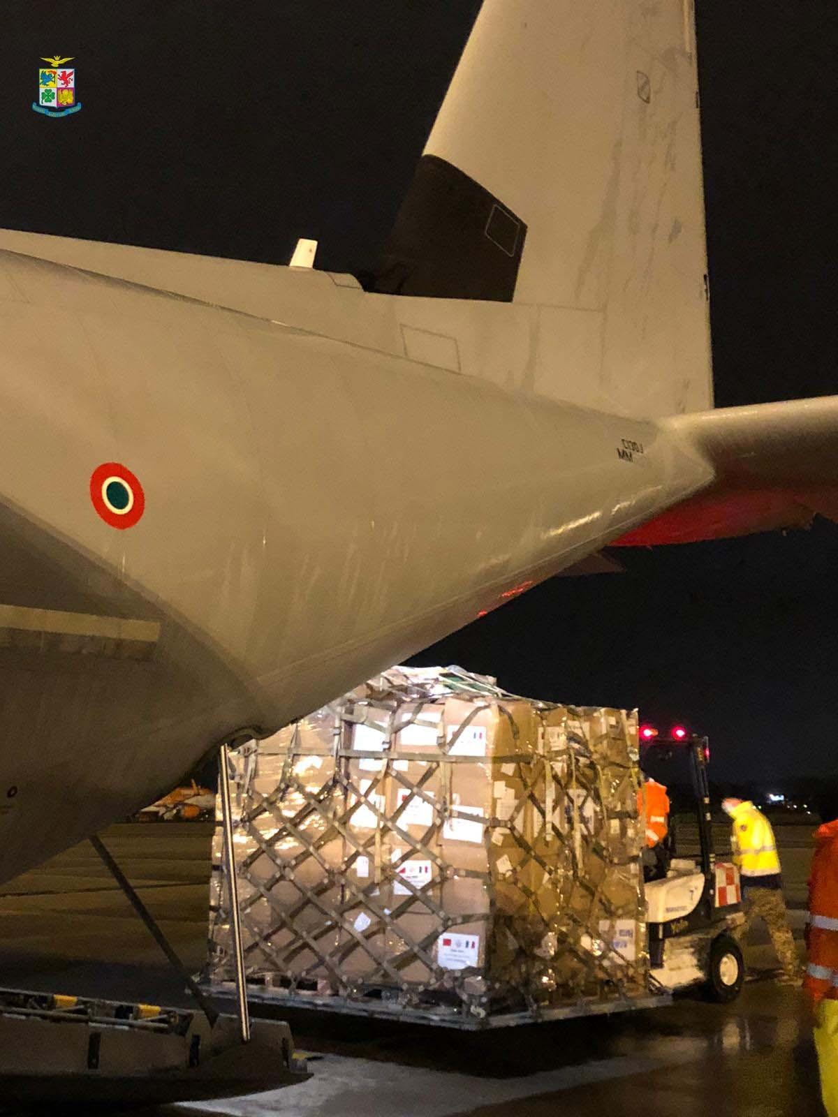 tonnellate materiale sanitario trasportato da velivoli Aeronautica Militare (4)