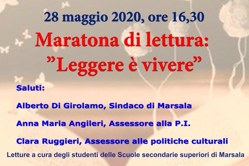 Marsala Maratona Di Lettura Leggere E Vivere Online Il 28 Maggio Marsala Live